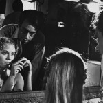 Cybill  Shepherd & Peter Bogdanovich on the set of The Last Picture Show.